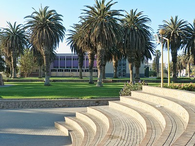 A park in downtown Swakopmund.