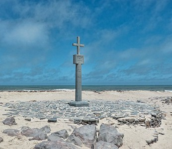 One of the cross replicas that gave Cape Cross its name.