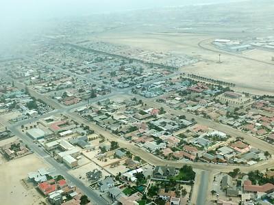 Another aerial view of Swakopmund