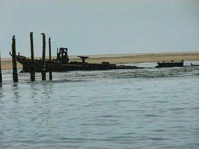 A ship skeleton at Walvis Bay.