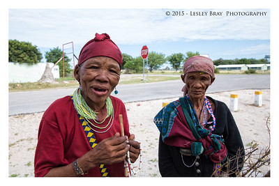 San Women from Bushman tribe at Tsumkwe in the Otjozondjupa Region of Namibia, Africa.  Photographed March 2015 - © 2015 Lesley Bray Photography - All Rights Reserved Do not remove my signature from this image. Sharing only with credit please.
