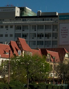 Very interesting thought on this building in downtown Windhoek.