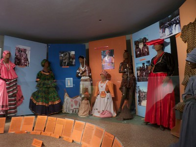 Exhibit of 19th century attire.