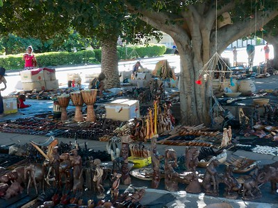 View of the Saturday outdoor market.