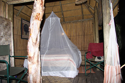 With mosquito net to keep the bugs out