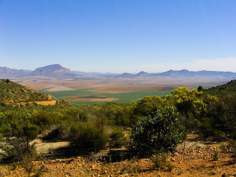 landscape near South African border