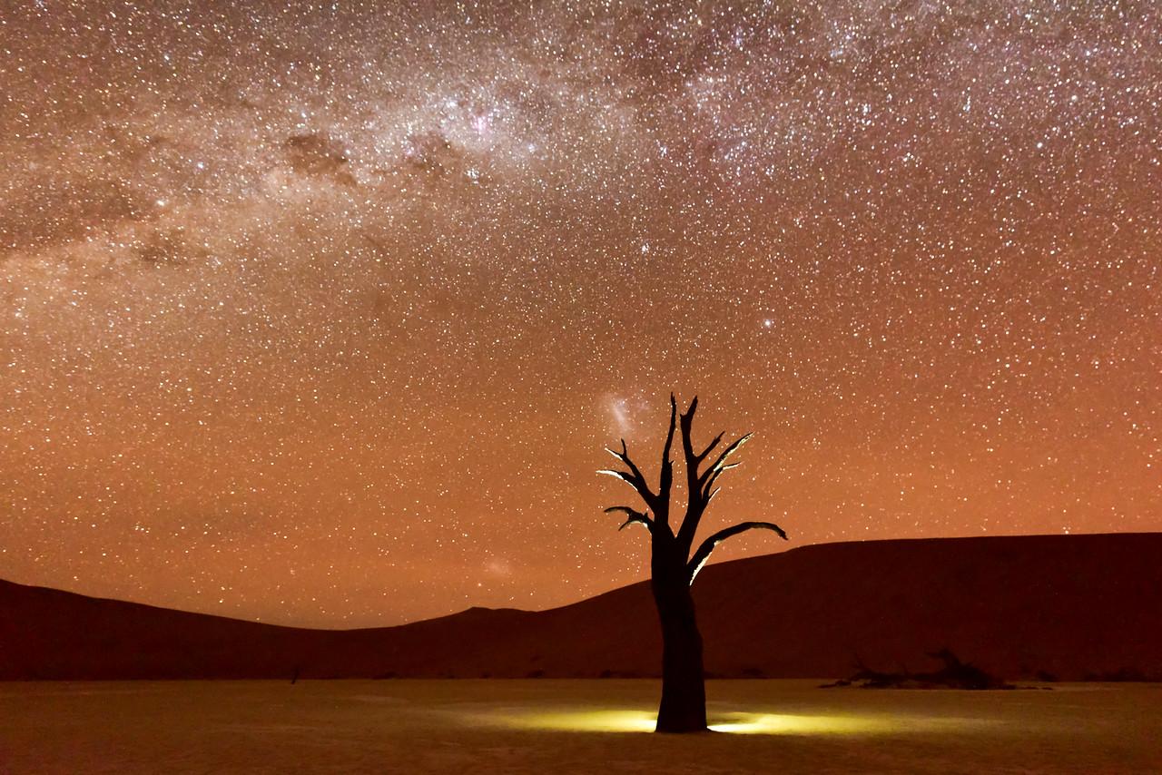 Dead Vlei, Namibia at Dusk