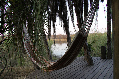 And a hammock for relaxing and watching the river
