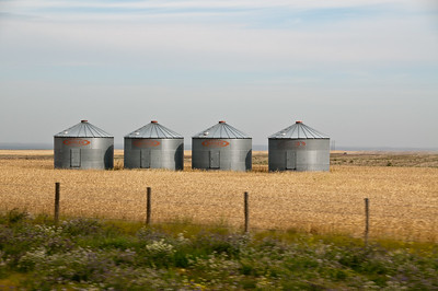 Silos like these occasionally break up the monotony.