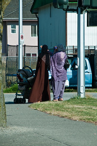 Surrey, BC is about 20% sikh. The women wear some very pretty garments.