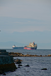 Big ships moving about off Vancouver.