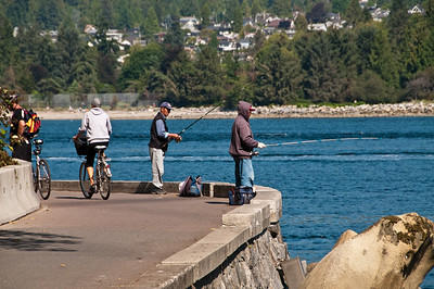 Fishing and biking are fairly popular at Stanley Park.