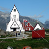 The Church in the small town of Nanortalik, Greenland.