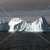 A view of an iceberg while cruising toward Nanortalik, Greenland.