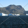 A view of icebergs while cruising toward Nanortalik, Greenland.