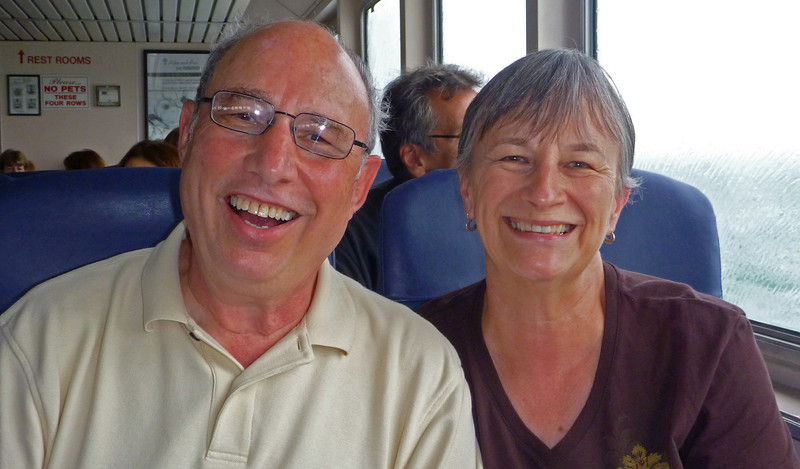 Joe and DeAnn on the way to Nantucket on the high speed ferry from Hyannis