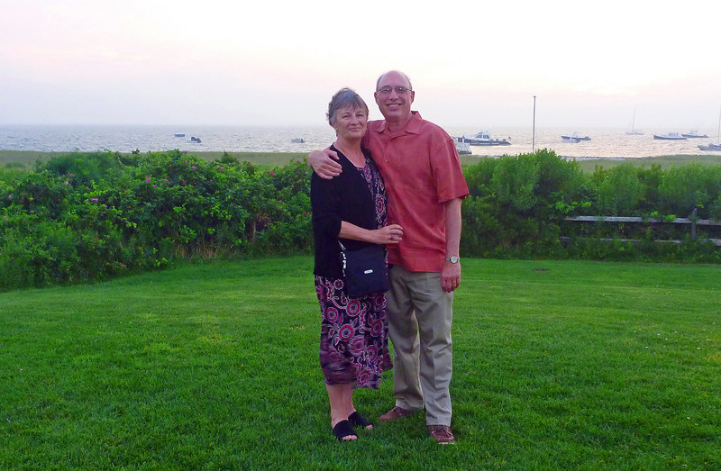 Joe and DeAnn after dinner at the Wauwinet
