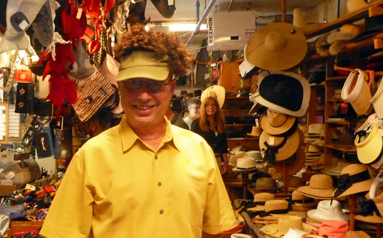 Joe having too much fun at the Sunken Ship Gift Shop