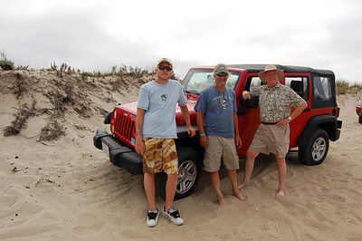 All glad to be on solid ground after Jill's driving skills through the dunes...