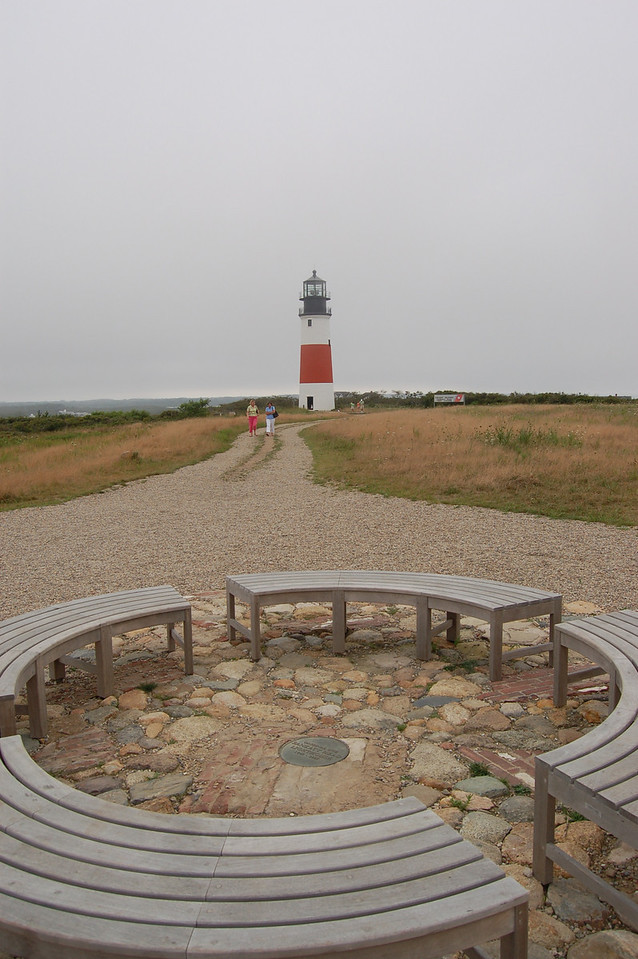 Foreground, the site of the lighthouse before it moved.