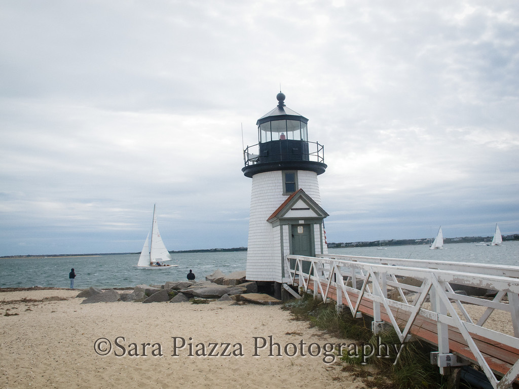 The walk to the Brant Point Lighthouse was just a little farther from Main Street than Edgartown Lighthouse is from Edgartown's Main Street.