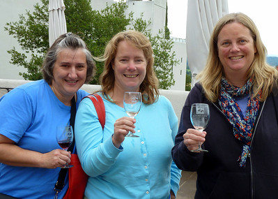 Lisa, Beth, Leah. Wine tasting at Sterling Winery
