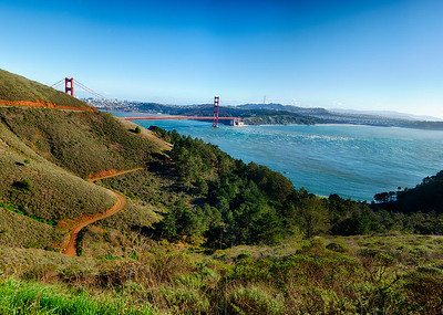 The golden gate bridge from the Sausalito view point