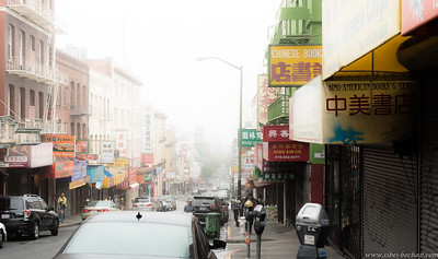 Hilly SF shrouded in fog