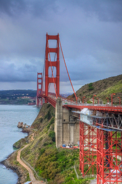 Golden Gate Bridge looking from Marin County.