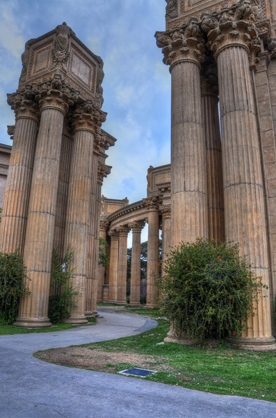 I think this is my favorite picture of the trip - looking on at the columns at Palace of the Fine Arts. HDR photo.