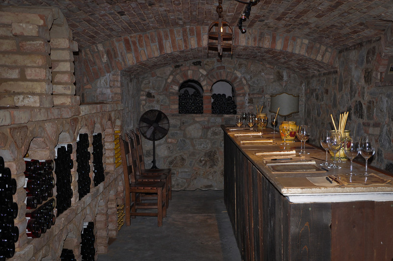 A view of our tasting room. We got to try 11 of the 12 wines they were tasting.