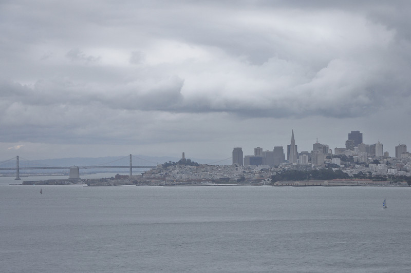 It was very overcast as a storm was coming in, but Sasha got this picture of the city looking from Marin County.