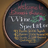 One of the reasons we picked Bennett Lane is because it had received a ton of 90+ points wines by Wine Spectator.