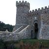 A front view of Castello di Amorosa.