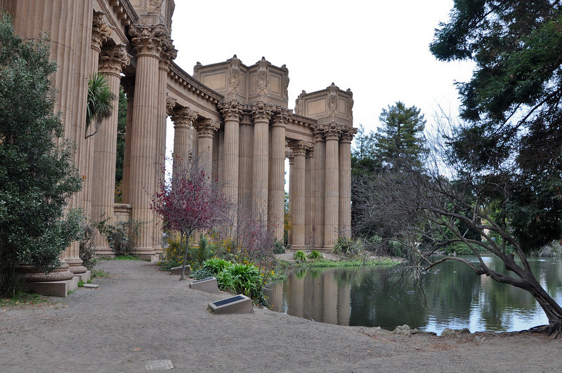 At the Palace of Fine Arts.