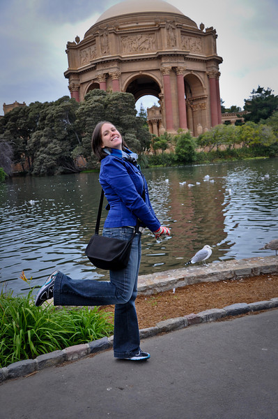 Sasha being all cute in front of the Palace of Fine arts. My muse.