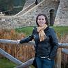 Sasha in front of Castello di Amorosa.