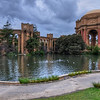 Looking on at the Palace of Fine Arts.