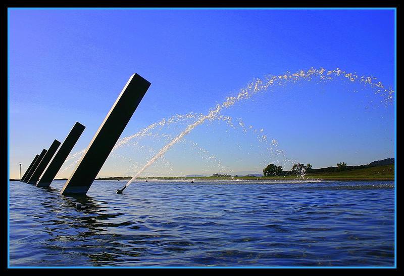 Water arches at Artesa