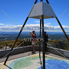 Trig a Te Mata atop the Te Mata Peak commemorating the Pioneer Surveyors on the occasion of the Hawke's Bay Centennial in Napier, New Zealand.
