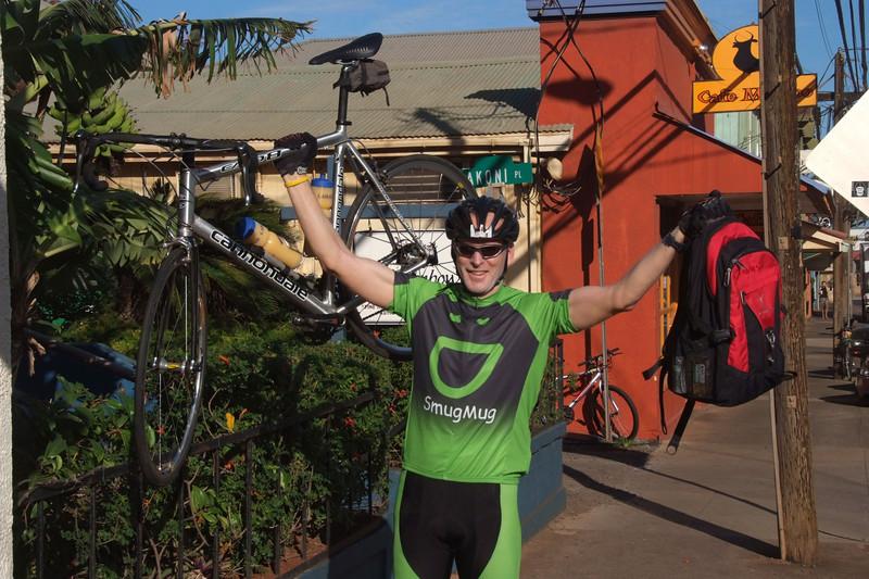 Baldy ready to ride up Haleakala