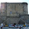 The medieval Castel Nuovo (Maschio Angioino) castle in Naples, Italy.