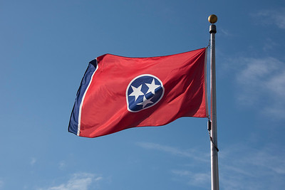Tennessee flag flying proudly