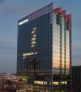Bridgestone Corporate Headquarters...glass, lights and reflections