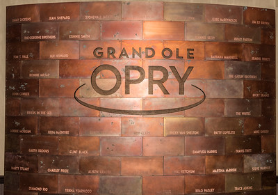 Grand Ol Opry  wall/logo with members names inscribed