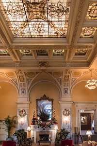 Hermitage Hotel in downtown Nashville...Christmas spirit and gorgeous design
