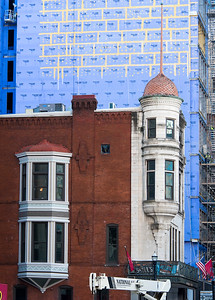 Old Time Nashville  building in front of highrise under construction