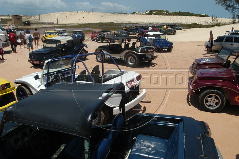 "Since roads are few and far between in Brazil's northeast, the best way to see the sun-soaked beaches of the region is by beach buggy. There are day trips out of the larger cities in the region, but one trip offered by tour operators, including ""Buggy e Cia"" ( <a href=""http://www.buggyecia.com.br"">http://www.buggyecia.com.br</a>) is an adventure of a lifetime: Natal to Fortaleza. Separated by nearly 600 km (360 miles) and 5 days, the route passes some of the most breath-taking scenery in Brazil. Massive sand dunes, quaint villages, fresh water oasis and fresh seafood are all part of the journey.(Australfoto/Douglas Engle)"
