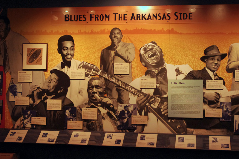 "Display at the Delta Cultural Center, Helena, Arkansas. It's all about the blues, baby.<br /> <a href=""http://www.deltaculturalcenter.com/"">http://www.deltaculturalcenter.com/</a>"
