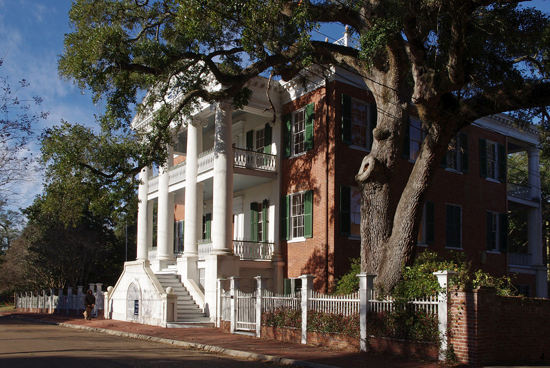 One of many mansions in Natchez, Mississippi.